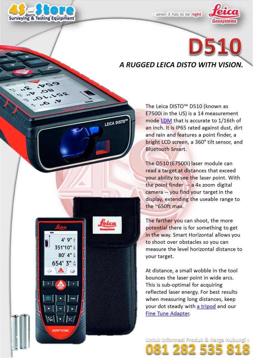Laser Distance Meter Leica Disto U2122 D510  U2013 4s Store